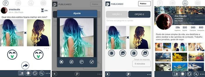 Prints do app Pitacom