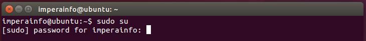Entrar em modo root no ubuntu