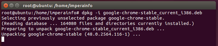 Instalação do navegador Google Chrome