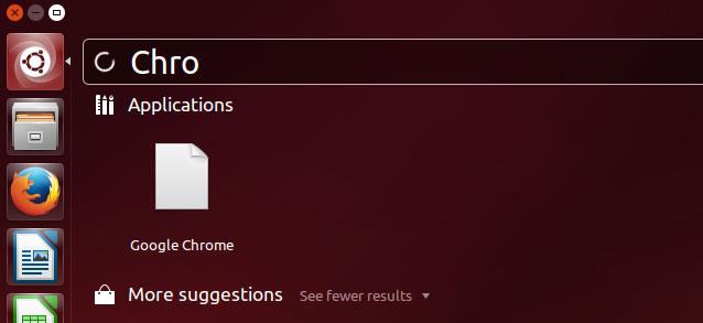 Pesquisando o Google Chrome no Ubuntu