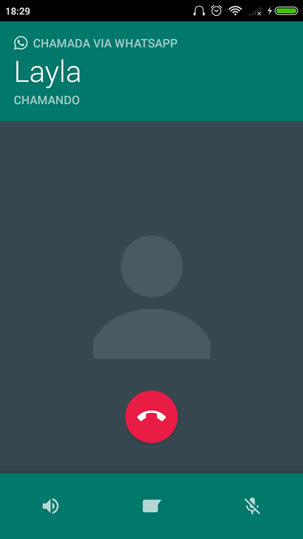Chamando um contato via WhatsApp
