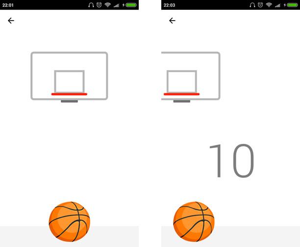 Redação jogando basquete no facebook messenger
