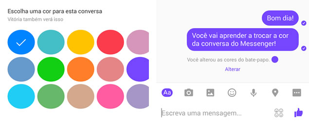 Texto modificado no Android